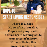 Hope tostart living responsibly...