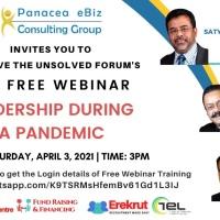 Panacea's 29th Free Webinar